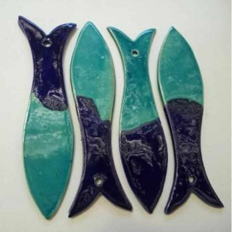 רביעיית דגים טורקיז כחול