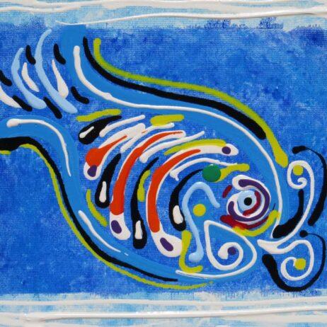 דג בכחול