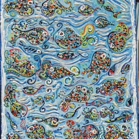 ציורים עם דגים