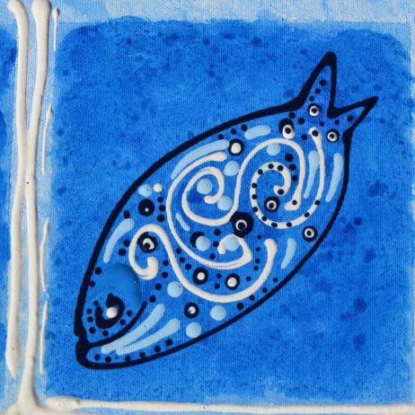 דג על קנווס