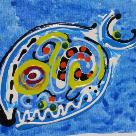 דג צבעי אקריליק