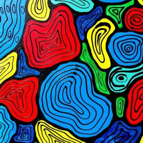 ציור כתמי צבע