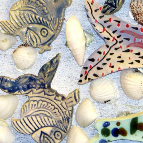 דגים מתוך תמונת קרמיקה