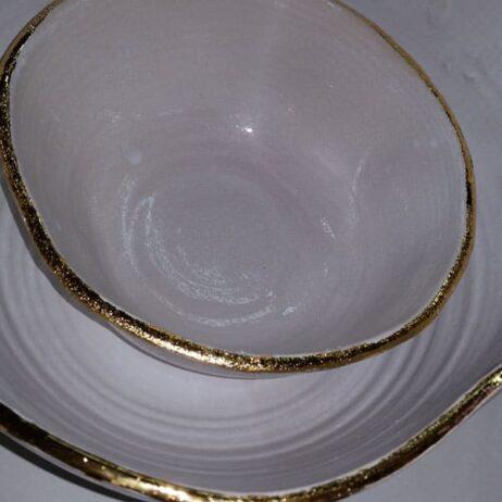שילוב זהב בקרמיקה