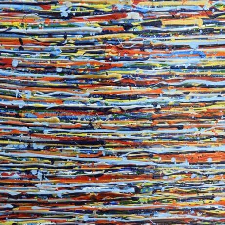 פסים באמנות איריס עשת כהן Colors of life