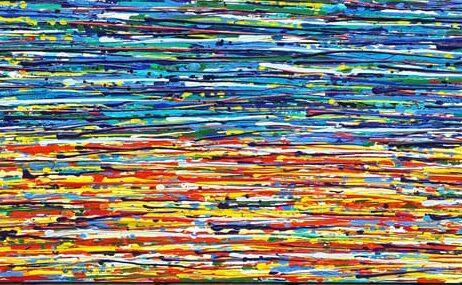 ציור למרחב גדול איריס עשת כהן Colors of life