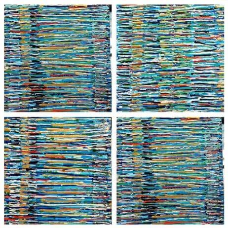 ציור לפי מידה פסים באמנות איריס עשת כהן Colors of life