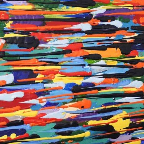 איריס עשת כהן Colors of life ציור תלת מיימד