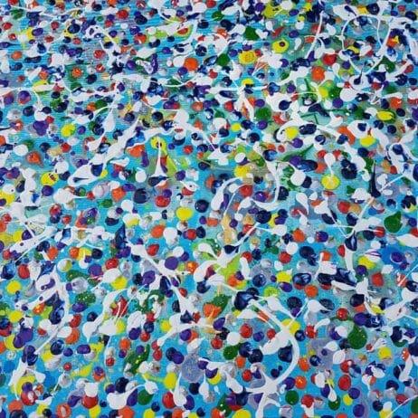 איריס עשת כהן Colors of life ציורים עם נקודות