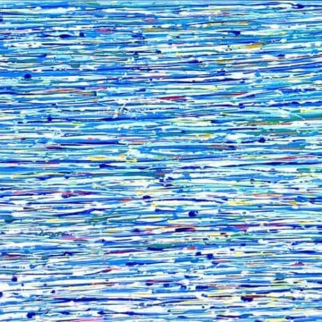 איריס עשת כהן Colors of life צבעי נקודות אקריליק על קנוונס