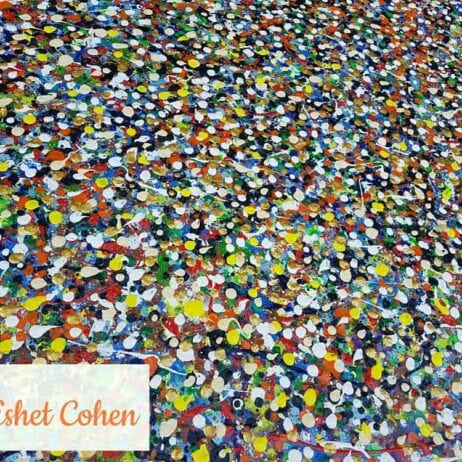 איריס עשת כהן Colors of life צבעי אקריליק על קנוונס