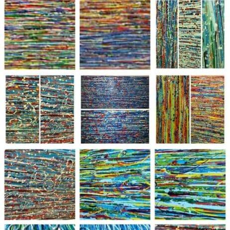 ציור צבעוני למשרד איריס עשת כהן Colors of life