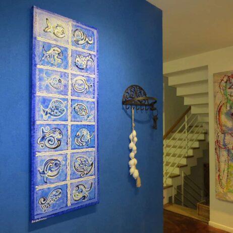 ציור דגים כניסה לבית אמנות ישראלית
