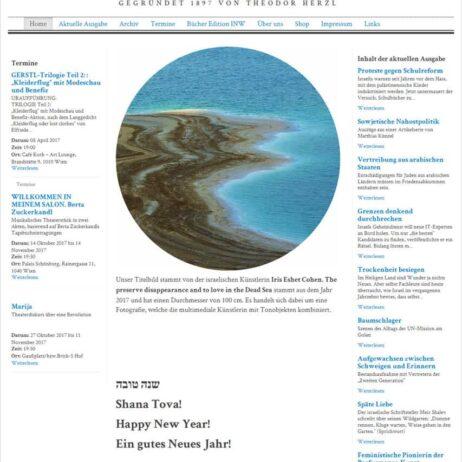 איריס עשת כהן אמנית כתבה בעיתון גרמני NEUE WELT