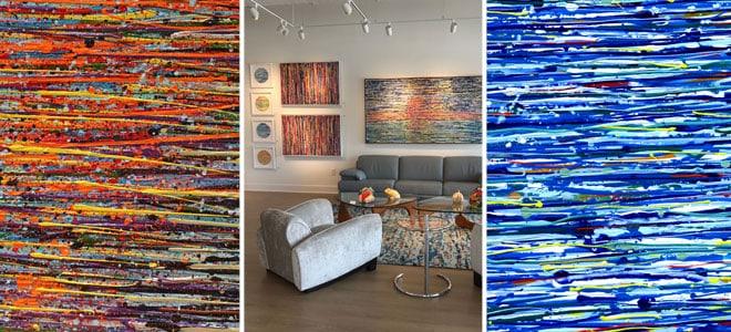 איריס עשת כהן אמנית ציורים מסדרת Colors of life