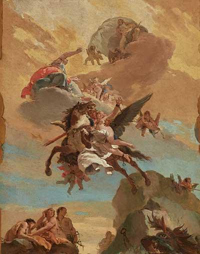 ההצלה של אנדרומדה על ידי פרסאוס: צייר: ג'ובאני בטיסטה טייפולו (ונציאני) שנה: 1731