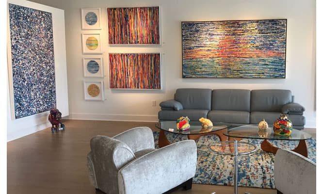 איריס עשת כהן אמנית גלריית הסטודיו תצוגות בחללים Colors of life